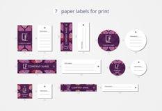 Vektorpapier-Kleidungsaufkleber für Druck mit romantischen Blumen des Musters Lizenzfreie Stockfotografie
