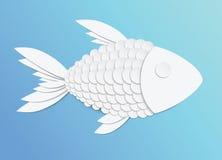 Vektorpapierfische stock abbildung