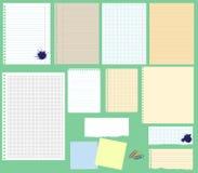 Vektorpapiersatz Lizenzfreies Stockbild