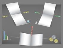Vektorpapierschablone für infographic vektor abbildung