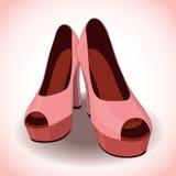 Vektorpar av kvinnors skor Fotografering för Bildbyråer
