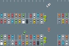 Vektorparkeringsplats stock illustrationer