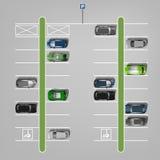 Vektorparkeringsplatser vektor illustrationer