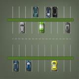 Vektorparkeringsplatser royaltyfri illustrationer
