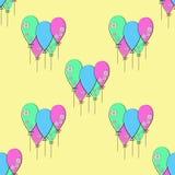 Vektorpartei steigt Muster im Ballon auf Stockbilder
