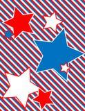 Vektorpatriotischer Stern-Hintergrund mit Streifen Stockfotografie