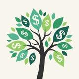 Vektorpengarträd Royaltyfri Bild
