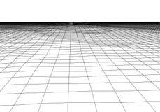 Vektorperspektivengitter Abstrakter Maschenhintergrund Polygonale Berge Retro- Hintergrund der Sciencefictions-80s Auch im corel  vektor abbildung