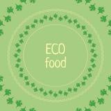 Vektorpetersiliengrünschablonenkreis eco Lebensmittel Stockfotografie