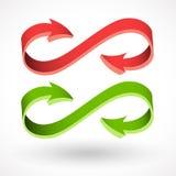 Vektorpfeil der Art 3d, abstrakte Zeichen Lizenzfreies Stockfoto