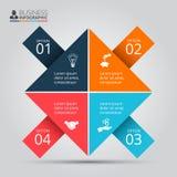 Vektorpfeile für infographic Stockfotografie