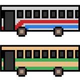 Vektorpixel-Kunstbus Stockbilder