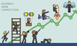 Vektorpixel-Kunstplanspiel Stockfoto