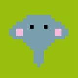 Vektorpixelelefant 3 Stockbilder