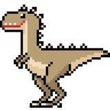 Vektorpixelkunst-Dinosauriermonster lizenzfreie abbildung