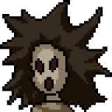 Vektorpixelkunst-Geistmädchen Stockbilder