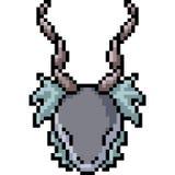 Vektorpixelkunst-Monsterkopf lizenzfreie abbildung
