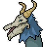 Vektorpixelkunst-Monsterkopf vektor abbildung