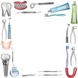 Vektorplakat-Hintergrundschablone für zahnmedizinische Klinik Lizenzfreie Stockbilder