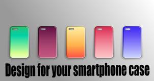 Vektorplan - stilvolle Abdeckungen für Ihren Smartphone Zusätzlicher Modellentwurf vektor abbildung