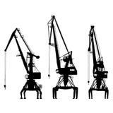 Vektorportalkräne auf weißem Hintergrund lizenzfreie stockfotografie