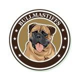 Vektorporträt der Hunderasse Bullmastiff Stockfotografie