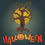 Vektorpostkarte für glückliches Halloween Stockfotos