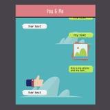 Vektorpratstundramar: meddelandeaskar för din text Arkivfoto