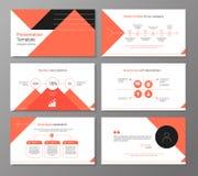 Vektorpresentation eller broschyrmall med infographic elemen Arkivfoton