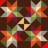 Vektorprydnad från den folk stjärnan vektor illustrationer