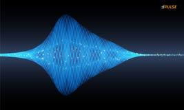 Vektorpulsierensignal vektor abbildung