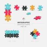 Vektorpusselbeståndsdelar för din infographics Royaltyfria Foton