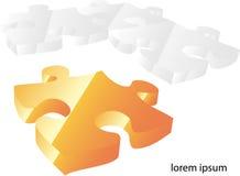 Vektorpuzzlespiel peaces Lizenzfreie Stockbilder