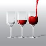 Vektorrött vinillustration Royaltyfri Fotografi