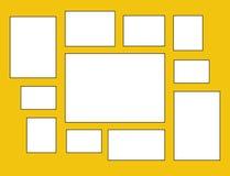 Vektorrahmen für Fotos und Bilder lizenzfreie abbildung