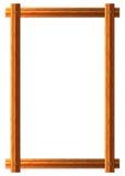 Vektorrahmen von hölzernen Brettern Lokalisiert auf Weiß Stockbilder