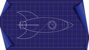 Vektorraketritning Arkivbild
