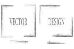 Vektorram för din text som målas med konstborsten Isolerad grungetextur Suddmålarfärg stock illustrationer