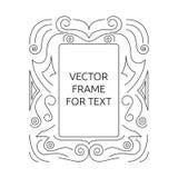 Vektorram för text Royaltyfria Bilder