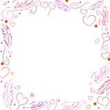 Vektorram för valentin dag Royaltyfria Bilder