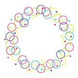 Vektorram från cirklar och cirklar royaltyfri illustrationer