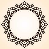 Vektorram i form av en cirkel Utsmyckad beståndsdel för design VI royaltyfri illustrationer