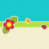 Vektorram med blomman Royaltyfri Foto