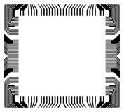 Vektorram med fragmentmikrochipens Royaltyfri Foto