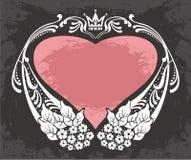 Vektorram med hjärta Arkivbild