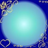 Vektorram på blå bakgrund stock illustrationer
