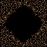 Vektorrammall för text hörnet blommar vektorn arkivfoton