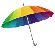 Vektorregenschirm in den Regenbogenfarben Lizenzfreie Stockbilder