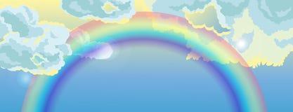 Vektorregnbåge Arkivfoton