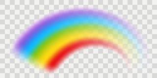 Vektorregnbåge med genomskinlig effekt vektor illustrationer